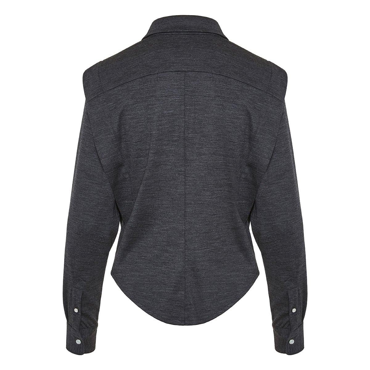 Galki square-shoulder wool shirt