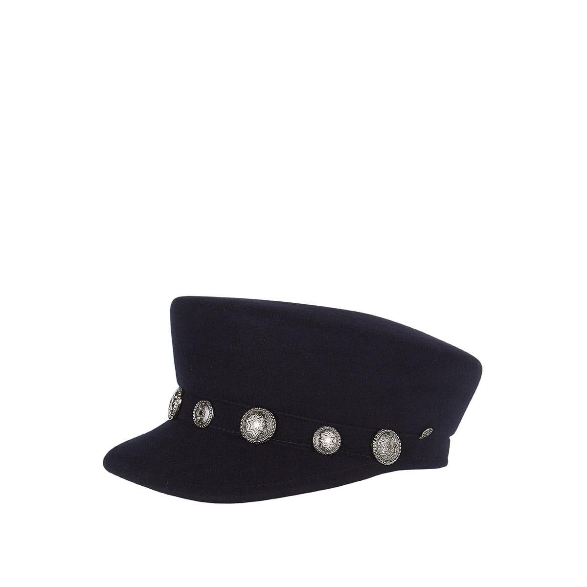 Abby studded felt cap