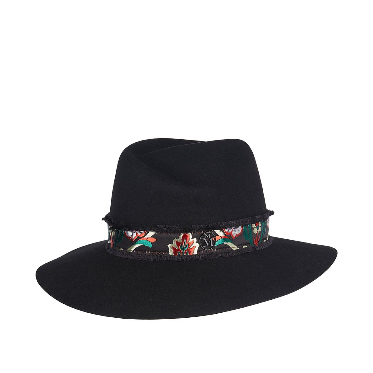 Virginie fedora hat with floral ribbon