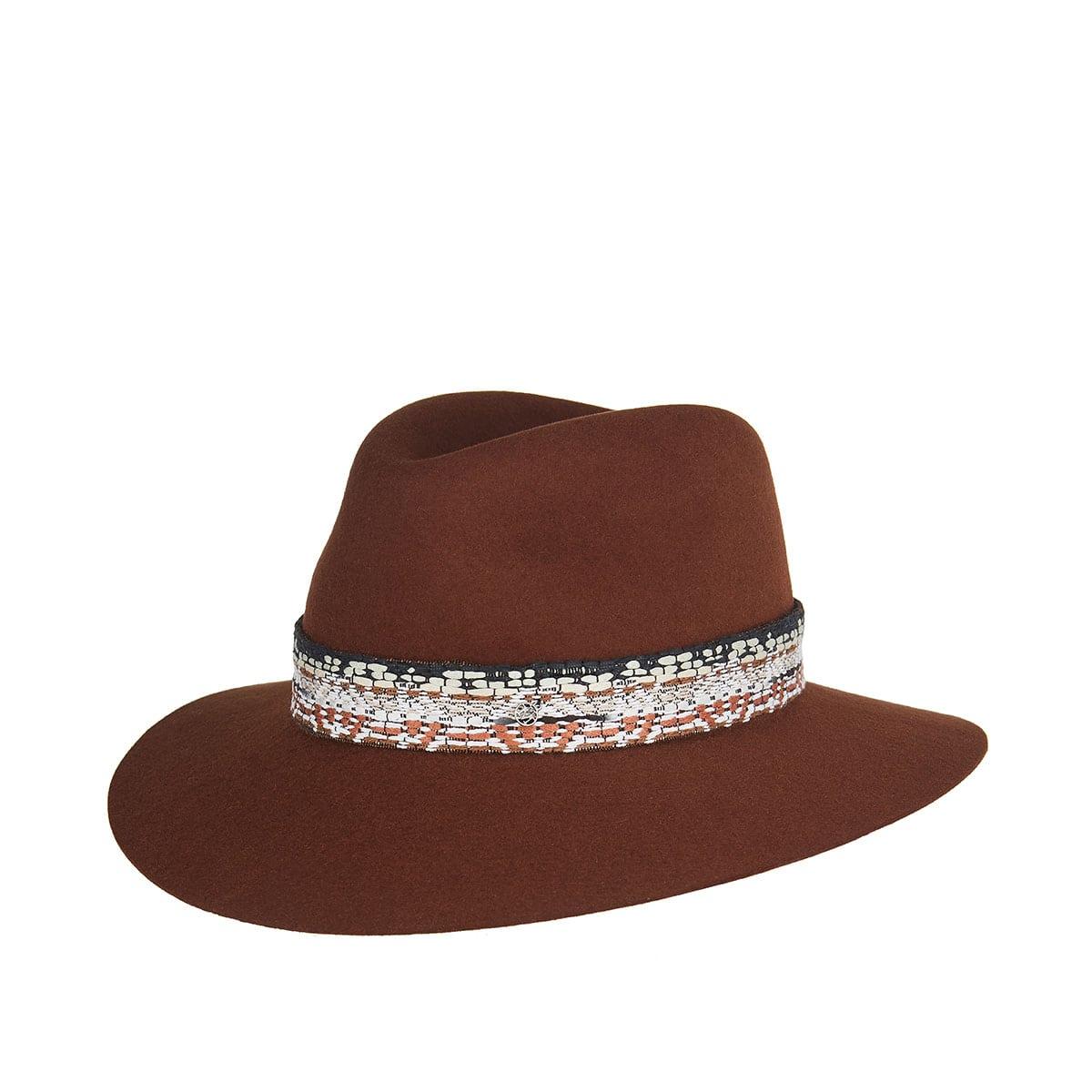 Henrietta ribbon-embellished fedora hat