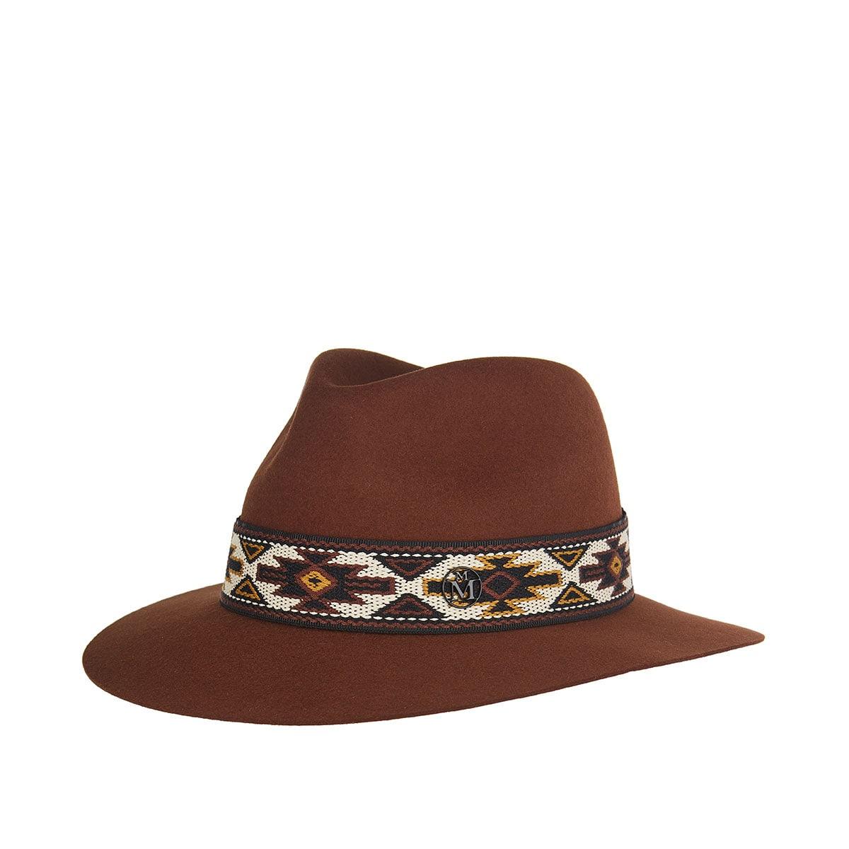 Rico ribbon-embellished fedora hat