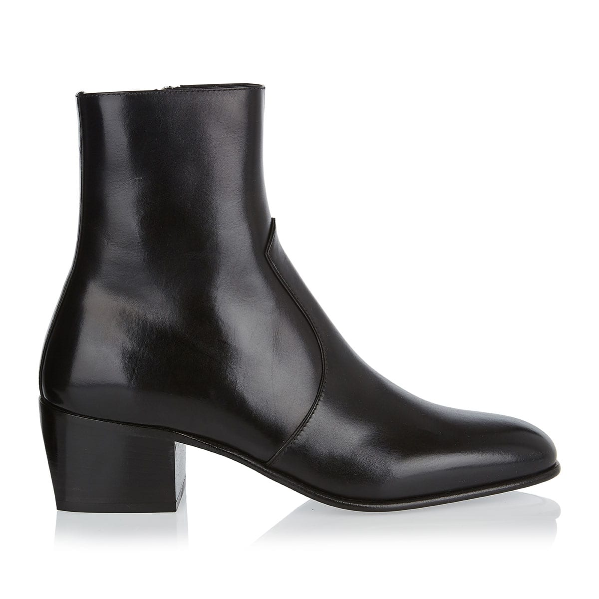 James leather ankle boots