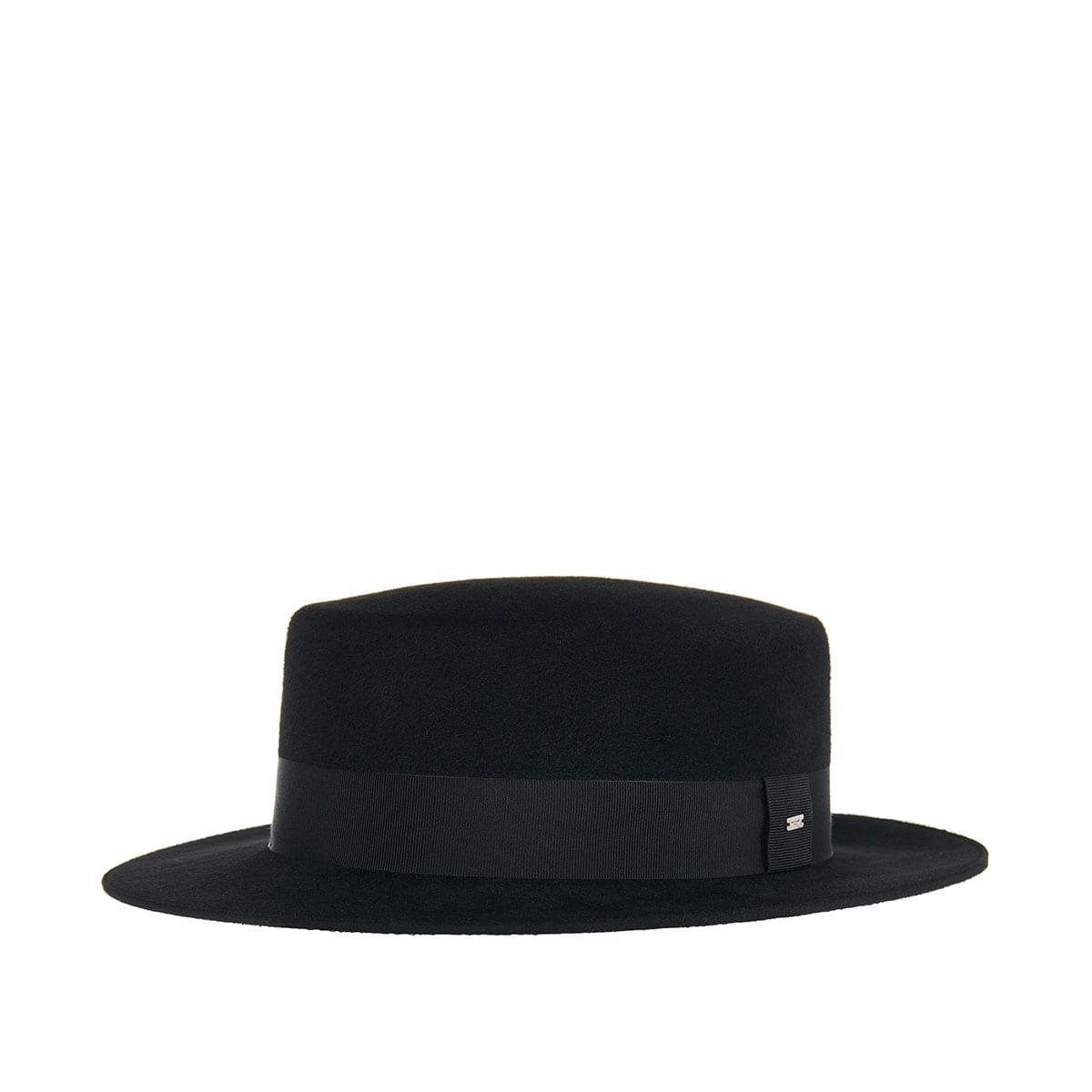 Felt canotier hat
