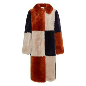 Adalyn faux fur patchwork coat