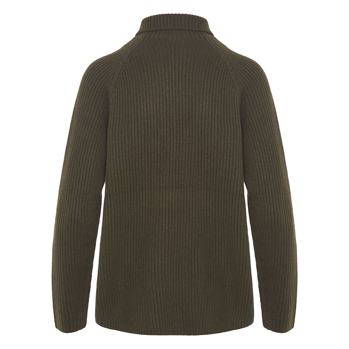 Cashmere sweater with foldable collar