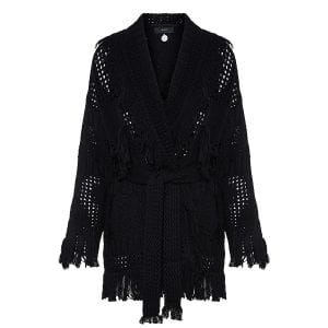 Embassy Black oversized crochet cardigan