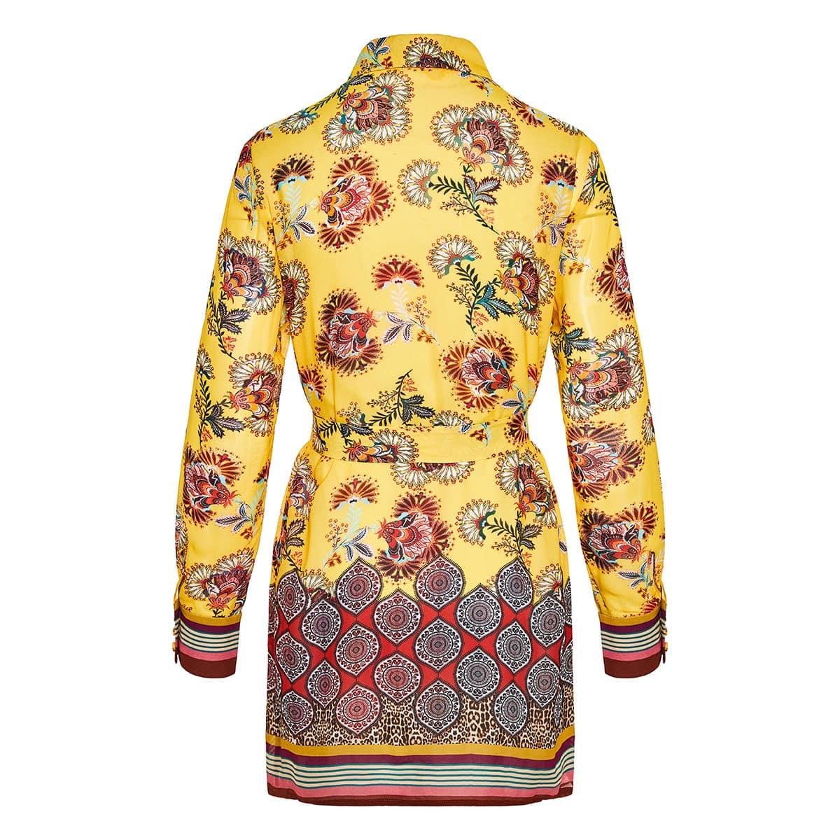 Foley floral belted shirt