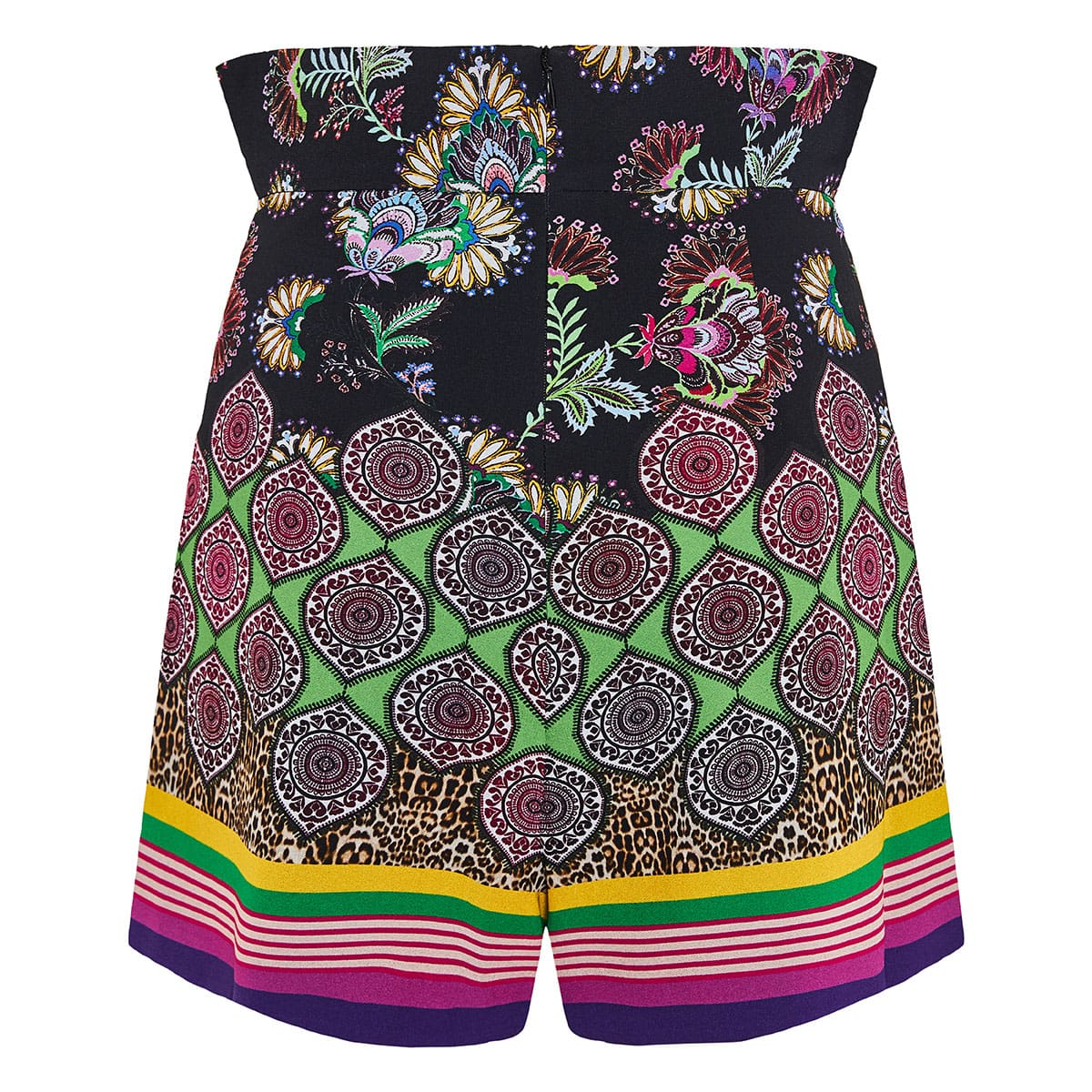 Florian high-waist printed shorts