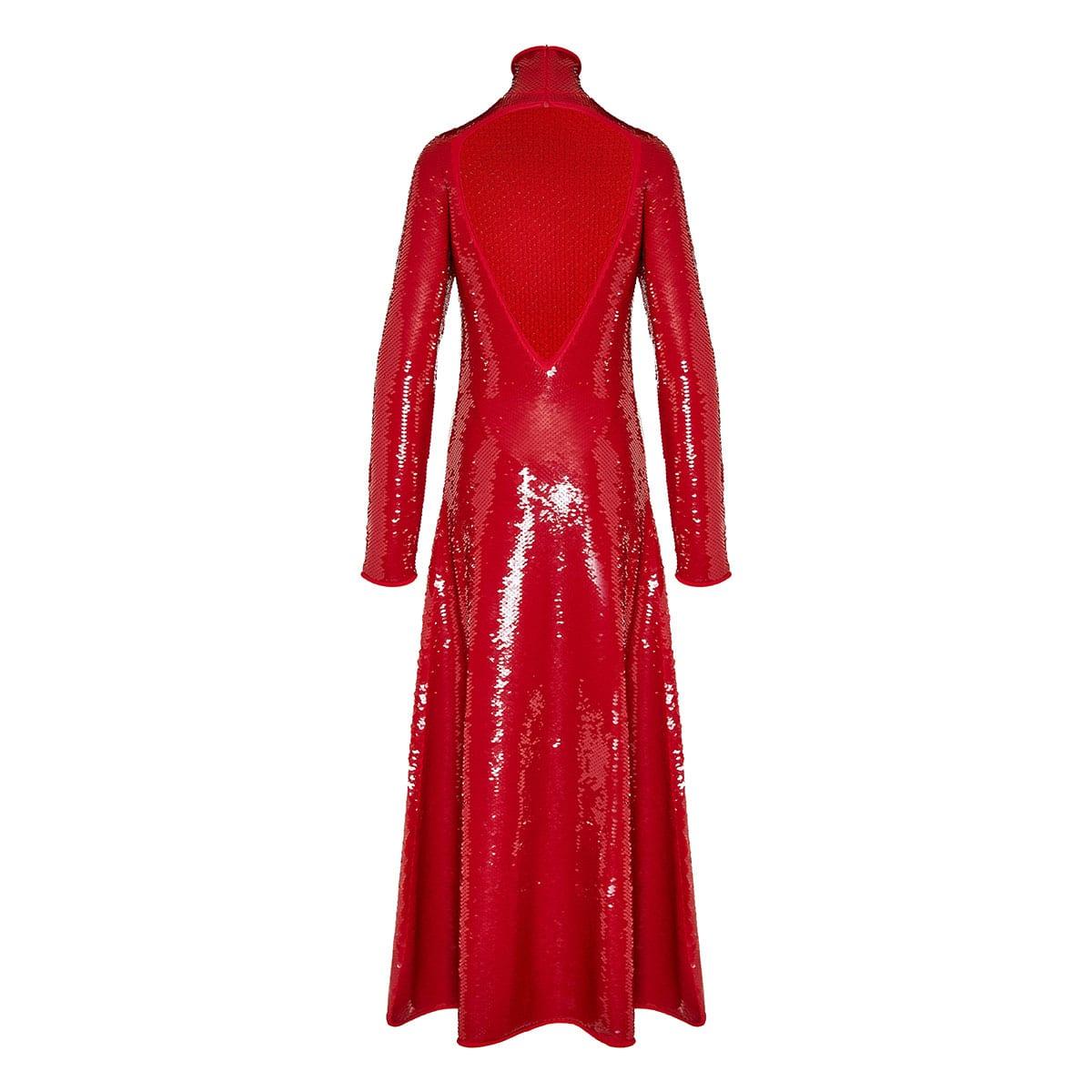 Open-back long sequin dress