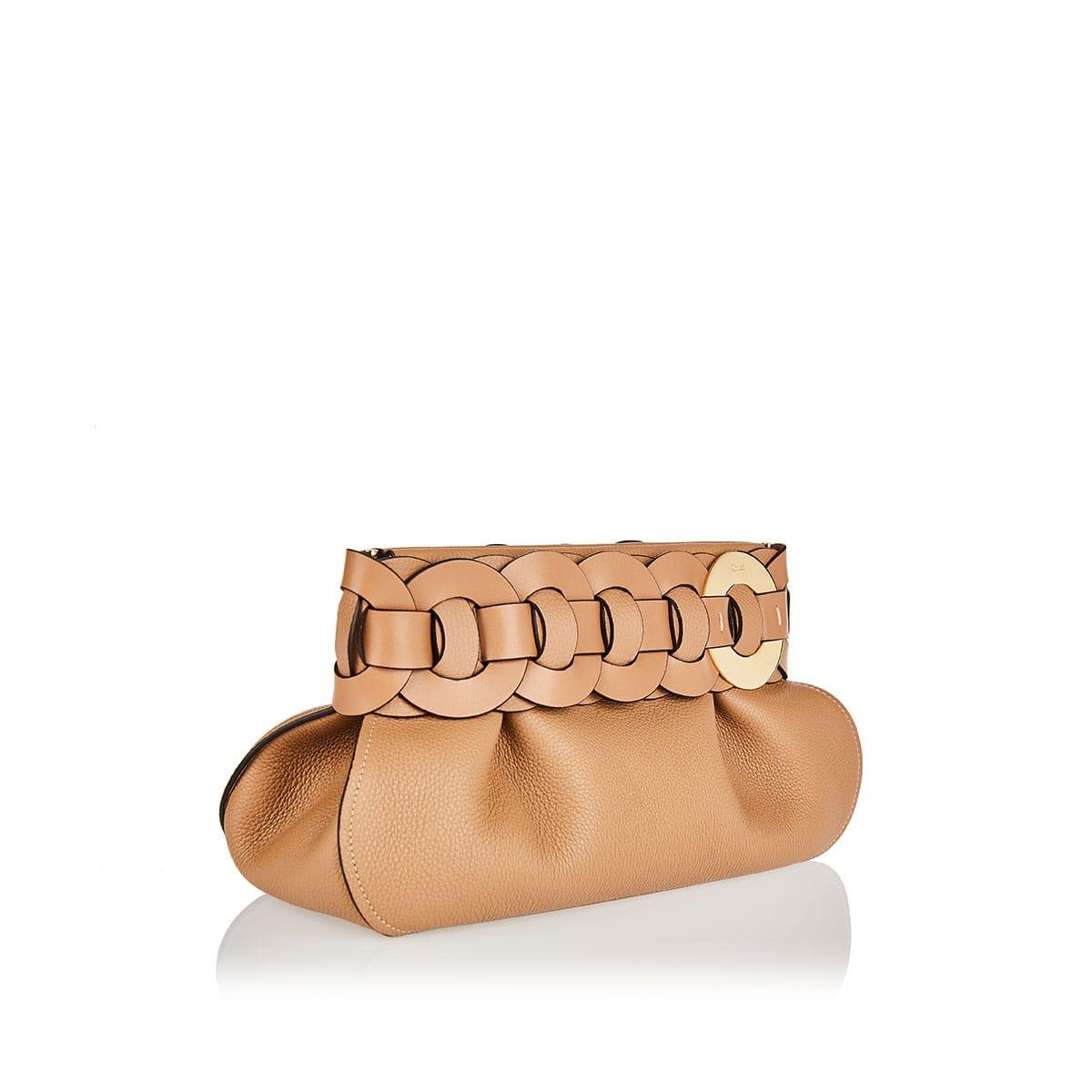 Darryl leather clutch