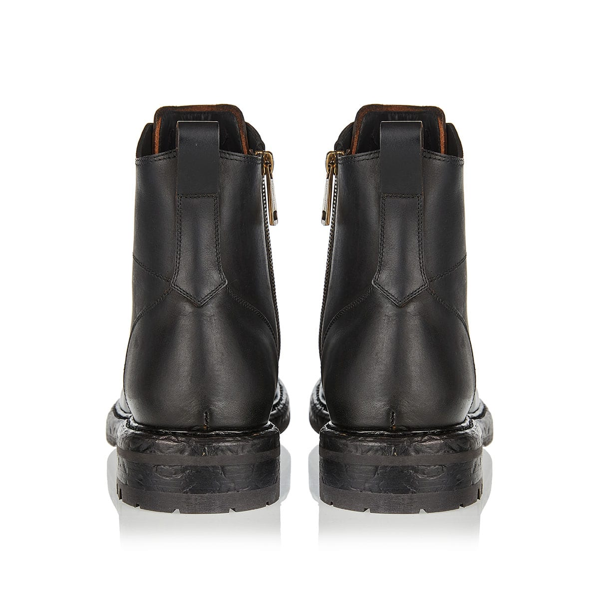 Bernini leather combat boots
