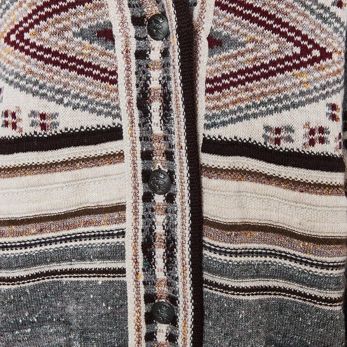 Oversized jacquard cardigan