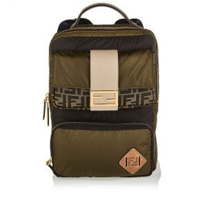 Baguette-pocket nylon backpack