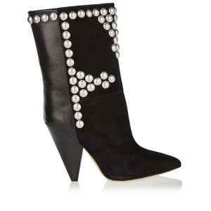 Layo studded suede and leather boots