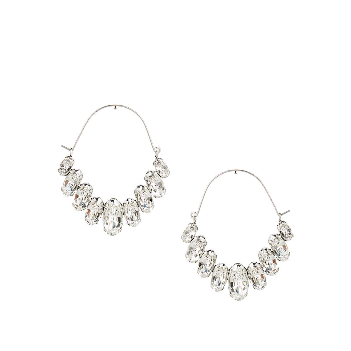Ho La La crystal-embellished earrings