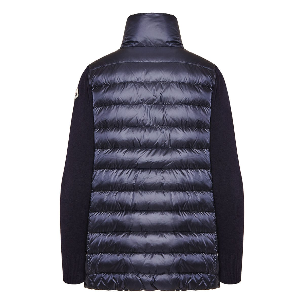 Wool-sleeved quilted puffer jacket