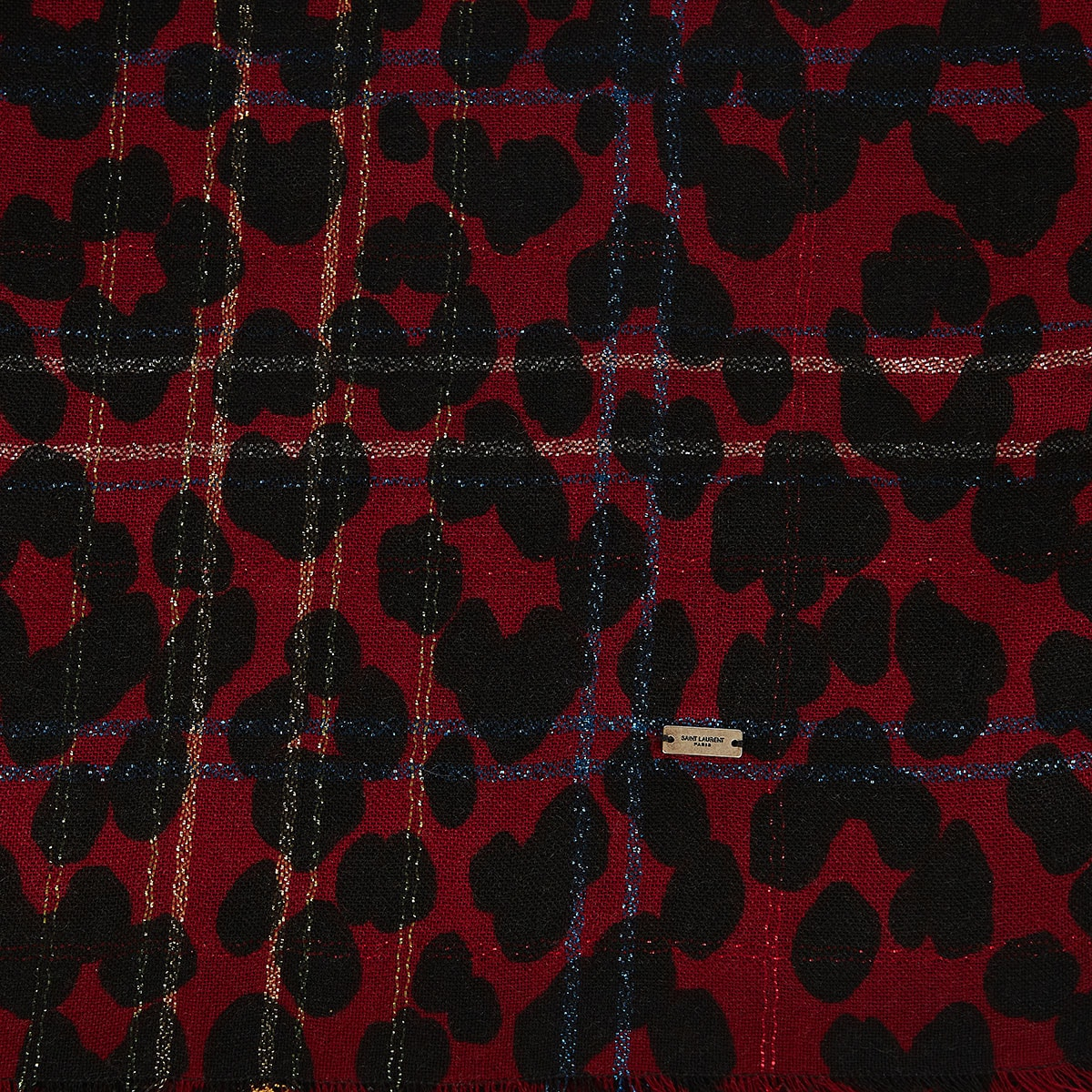 Leopard checked scarf