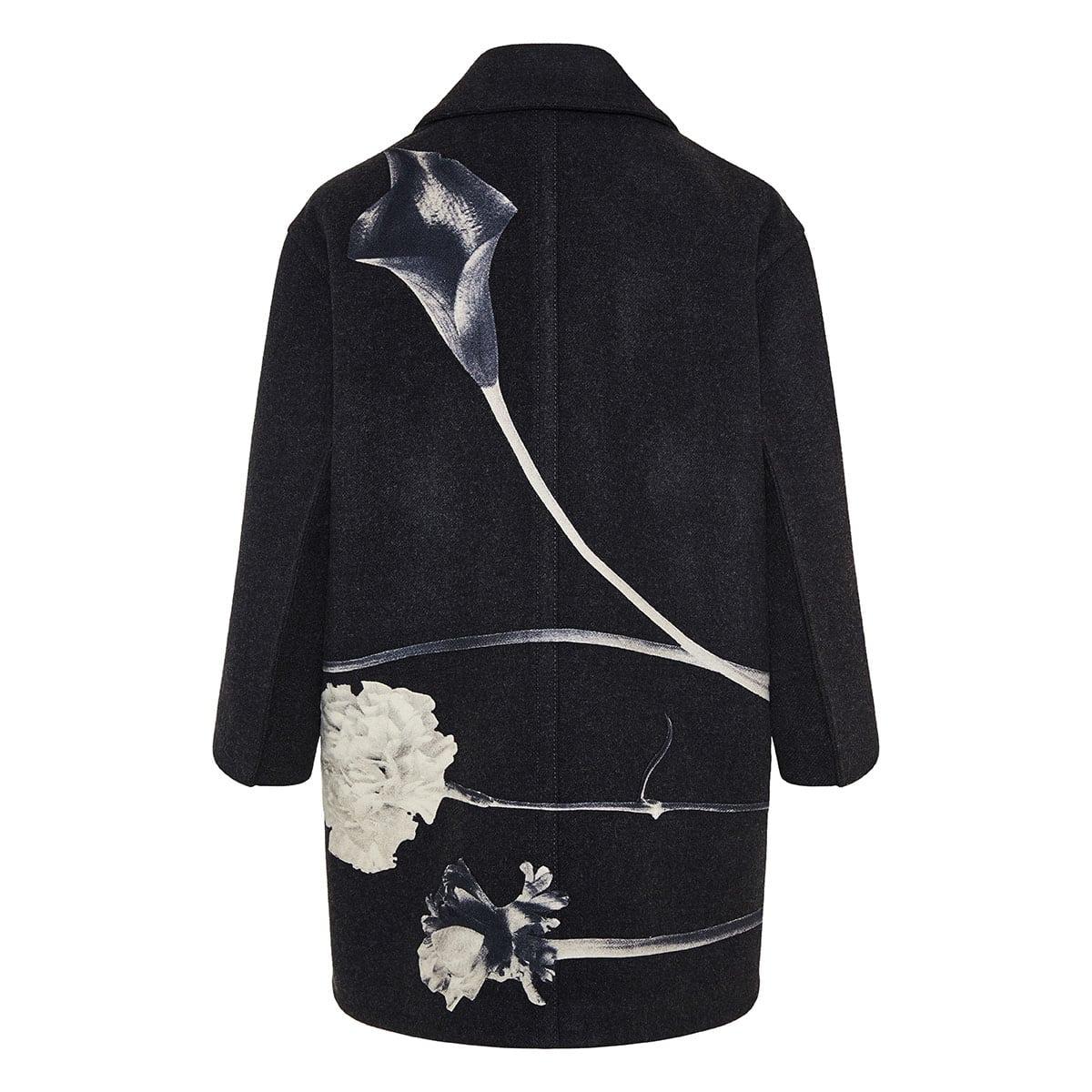 Flowersity wool coat