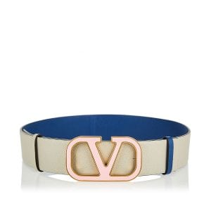 Vlogo reversible leather belt