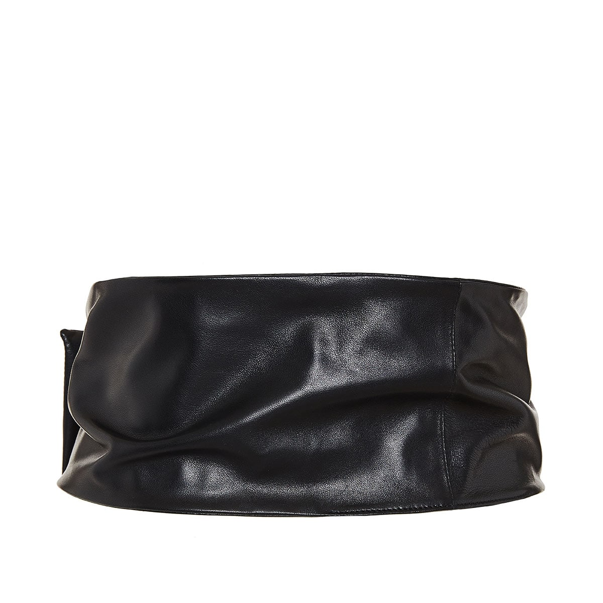 Vlogo wide leather belt