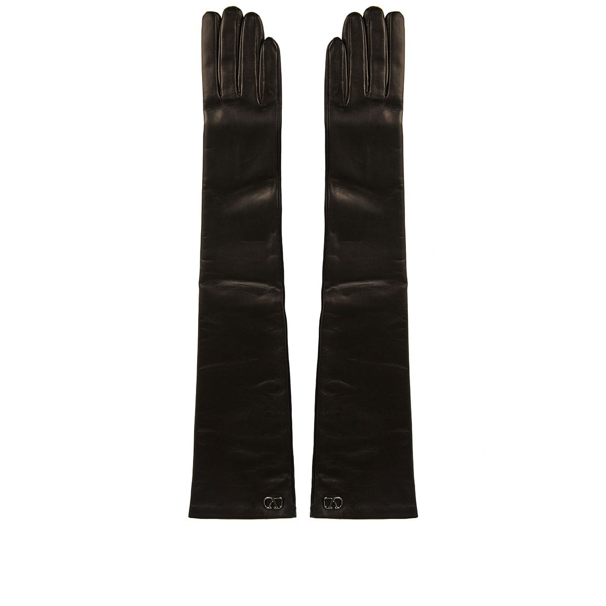 VLOGO long leather gloves