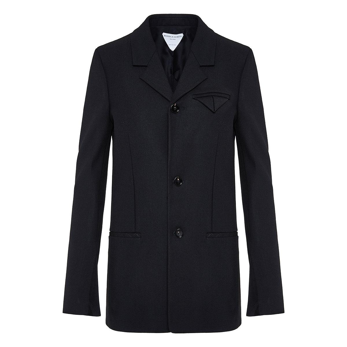 Single-breasted twill blazer