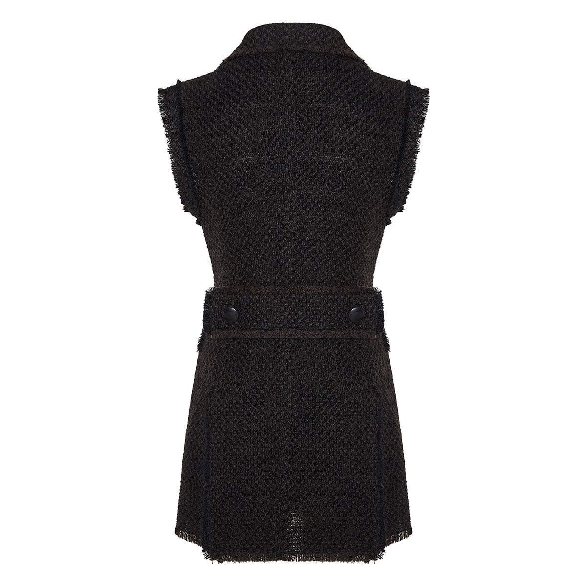 Double-breasted tweed blazer dress