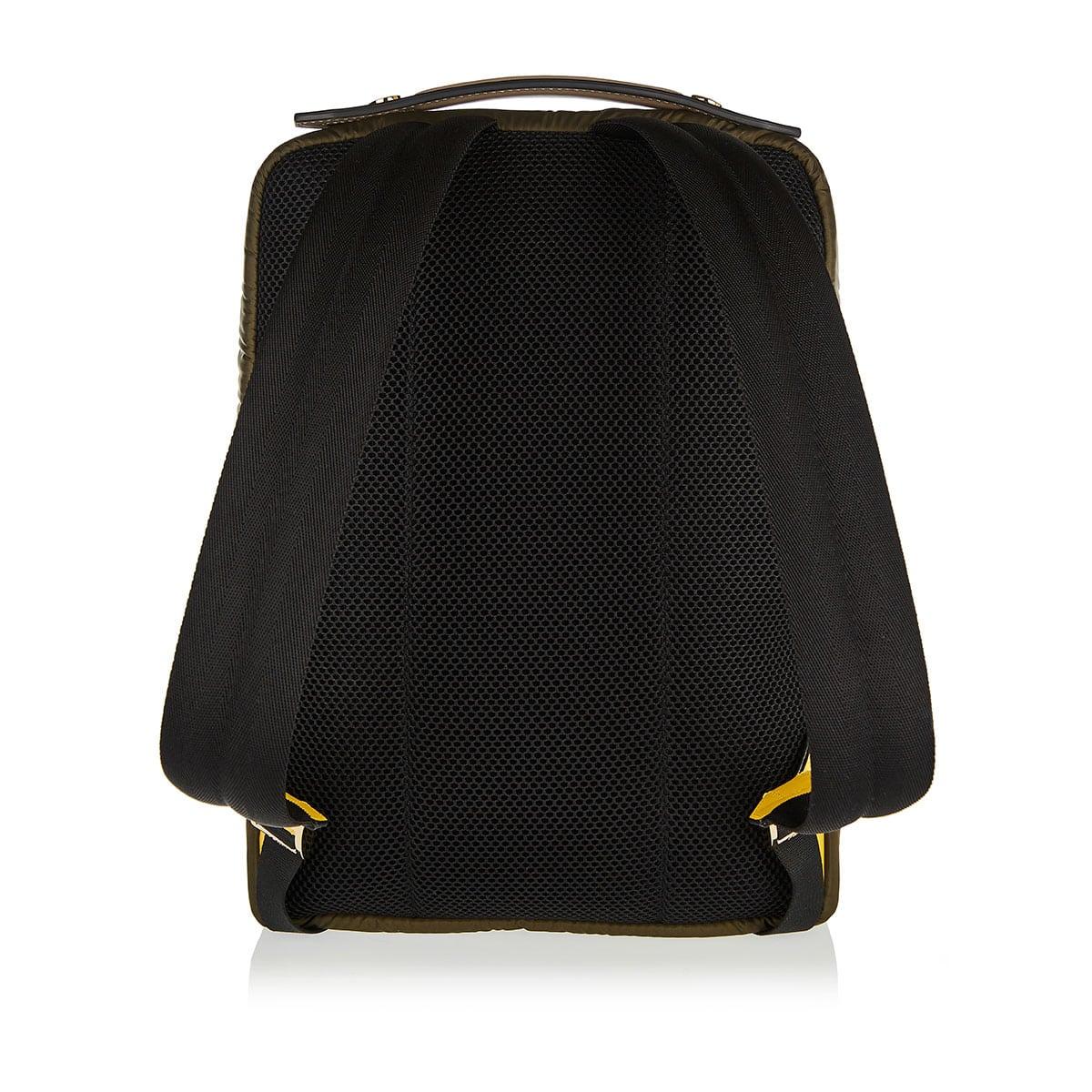 Baguette-pocket nylon backpack