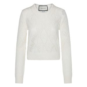 GG perforated wool sweater