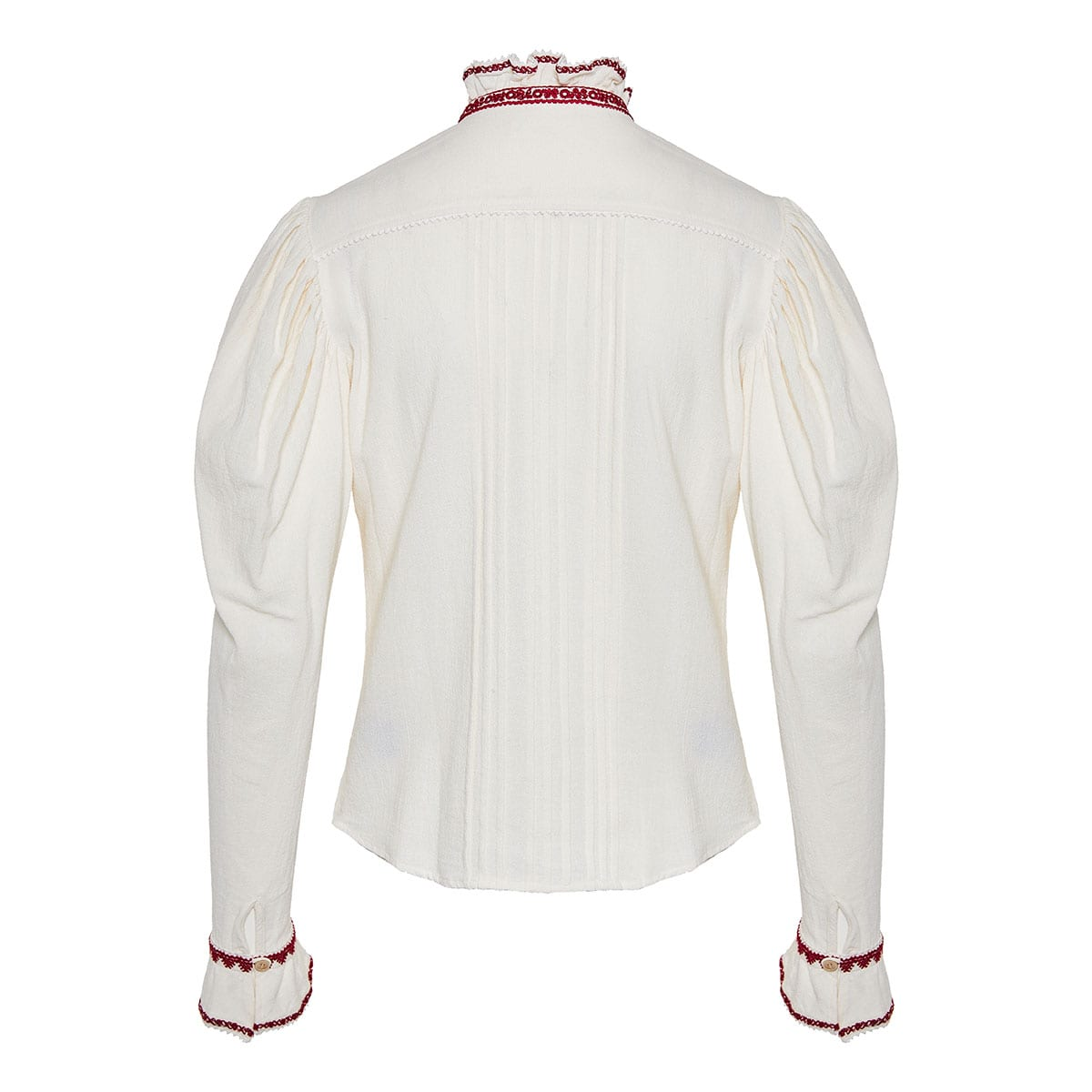 Rosie puff-sleeved embroidered shirt
