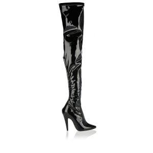 Aylah thigh-high patent boots