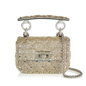 Rockstud Spike bead-embellished micro bag