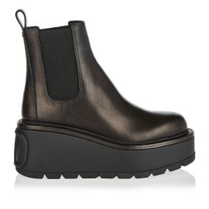 Uniqueform flatform ankle boots
