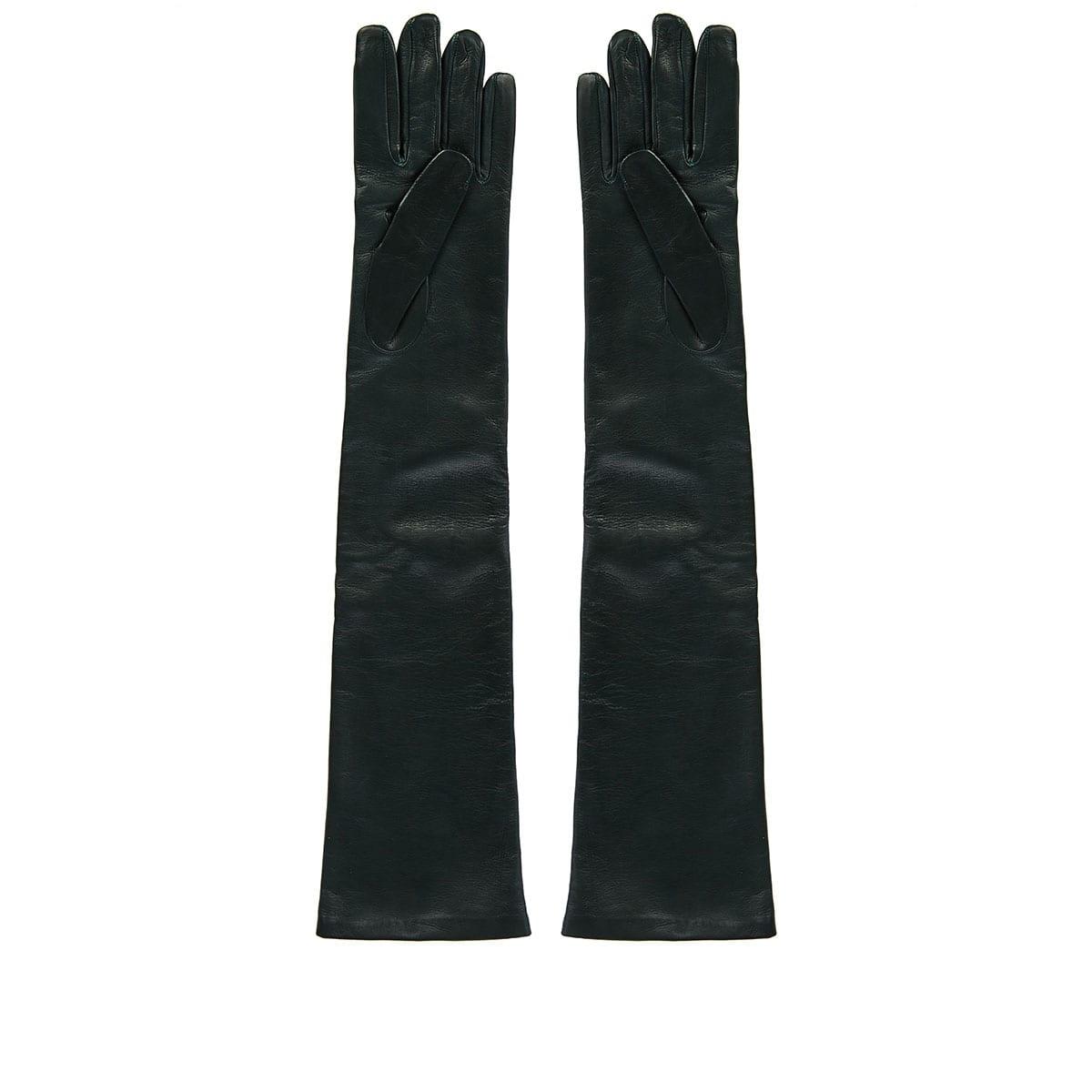 VLOGO long leather gloves