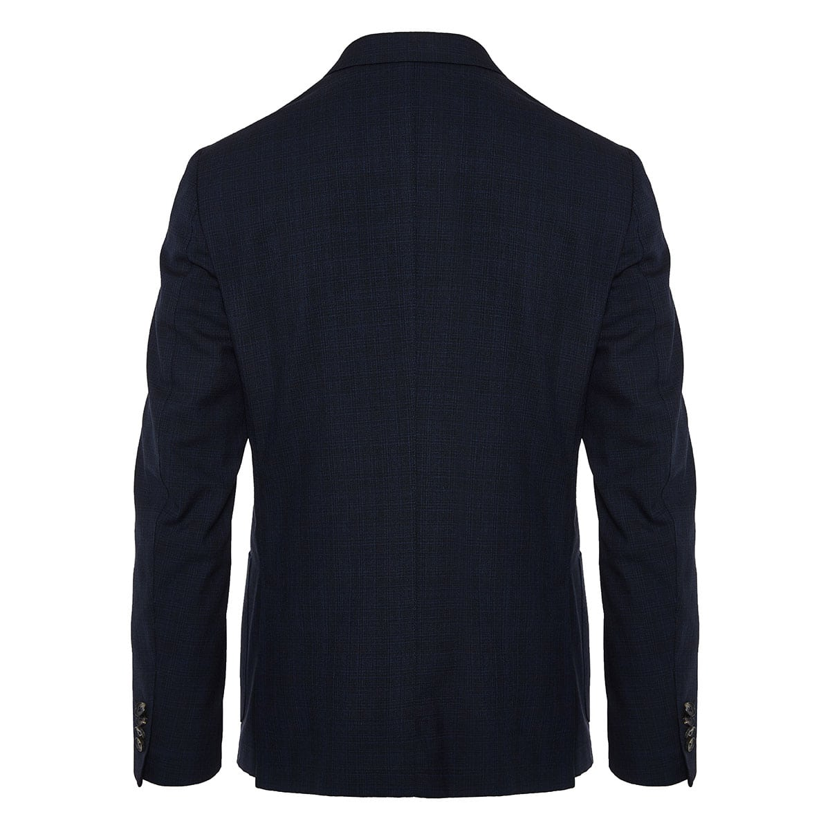 Single-breasted checked blazer