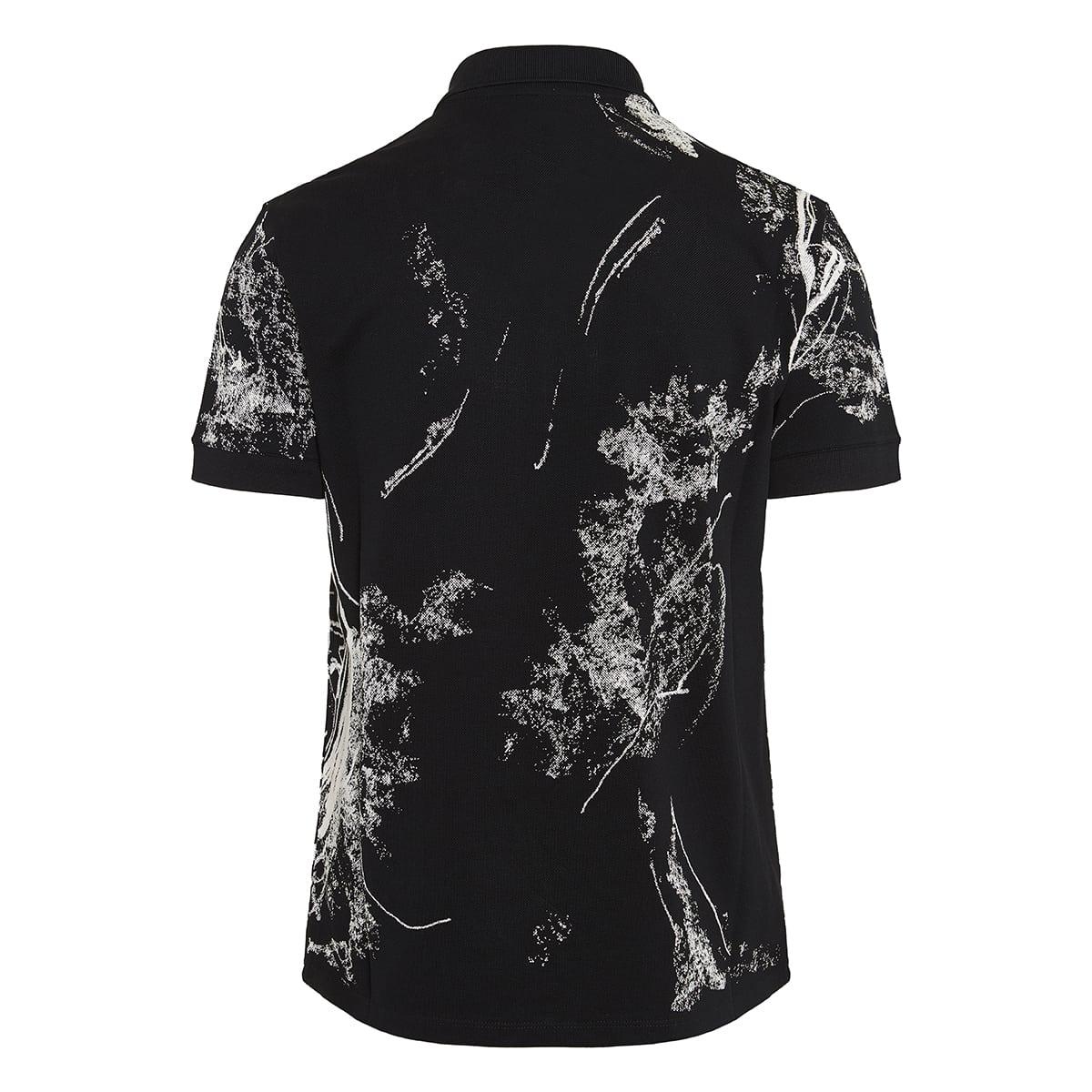 Skulls graphic polo shirt
