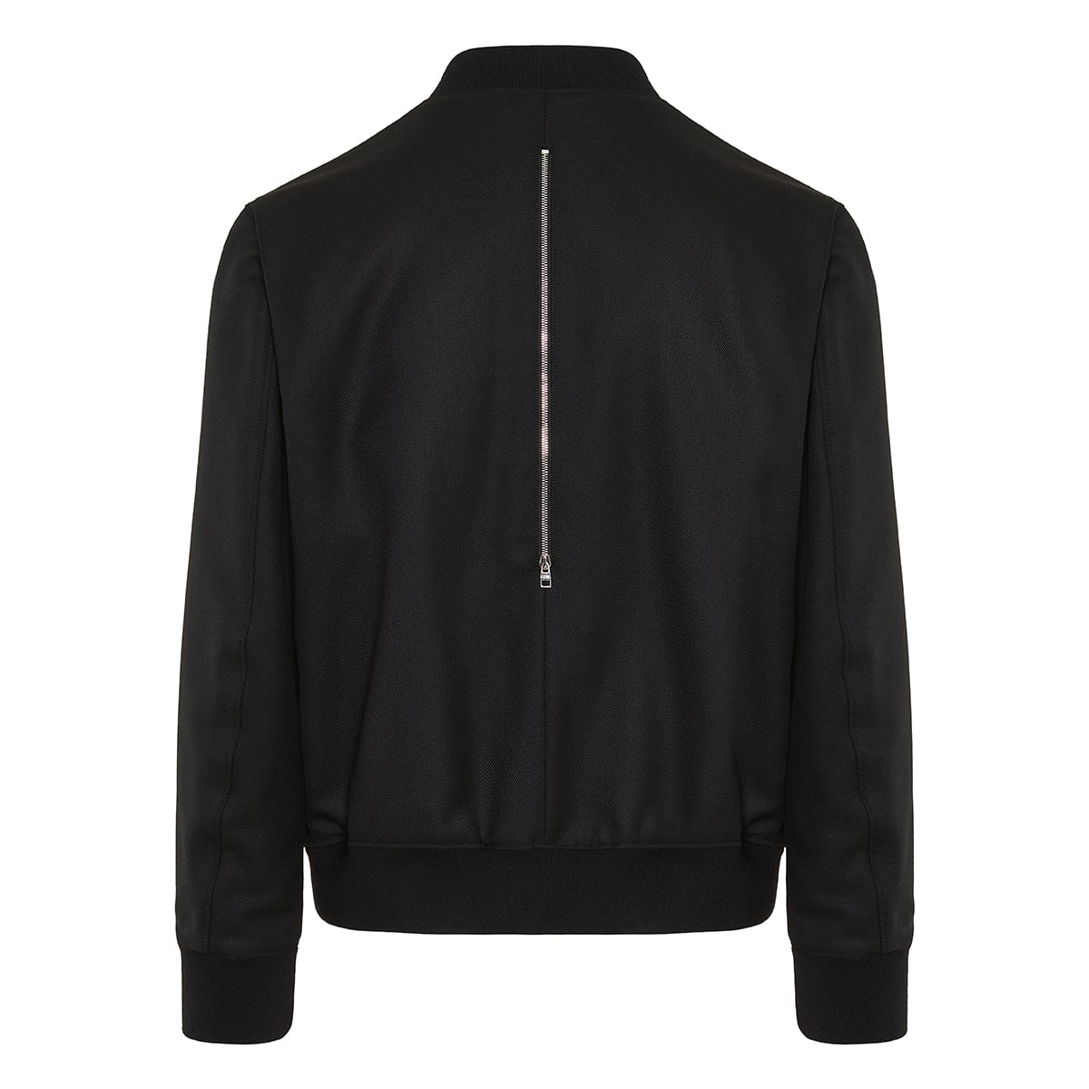 Zip-detailed bomber jacket