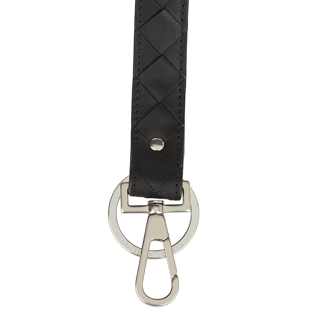 Intrecciato leather key holder