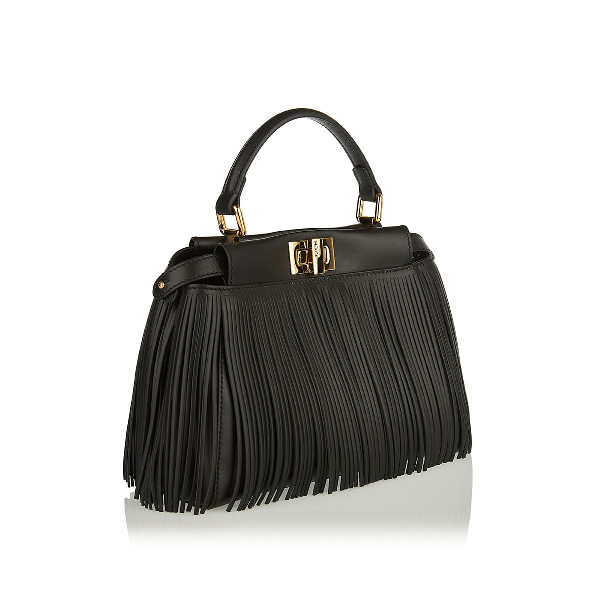 Peekaboo Iconic fringed mini bag