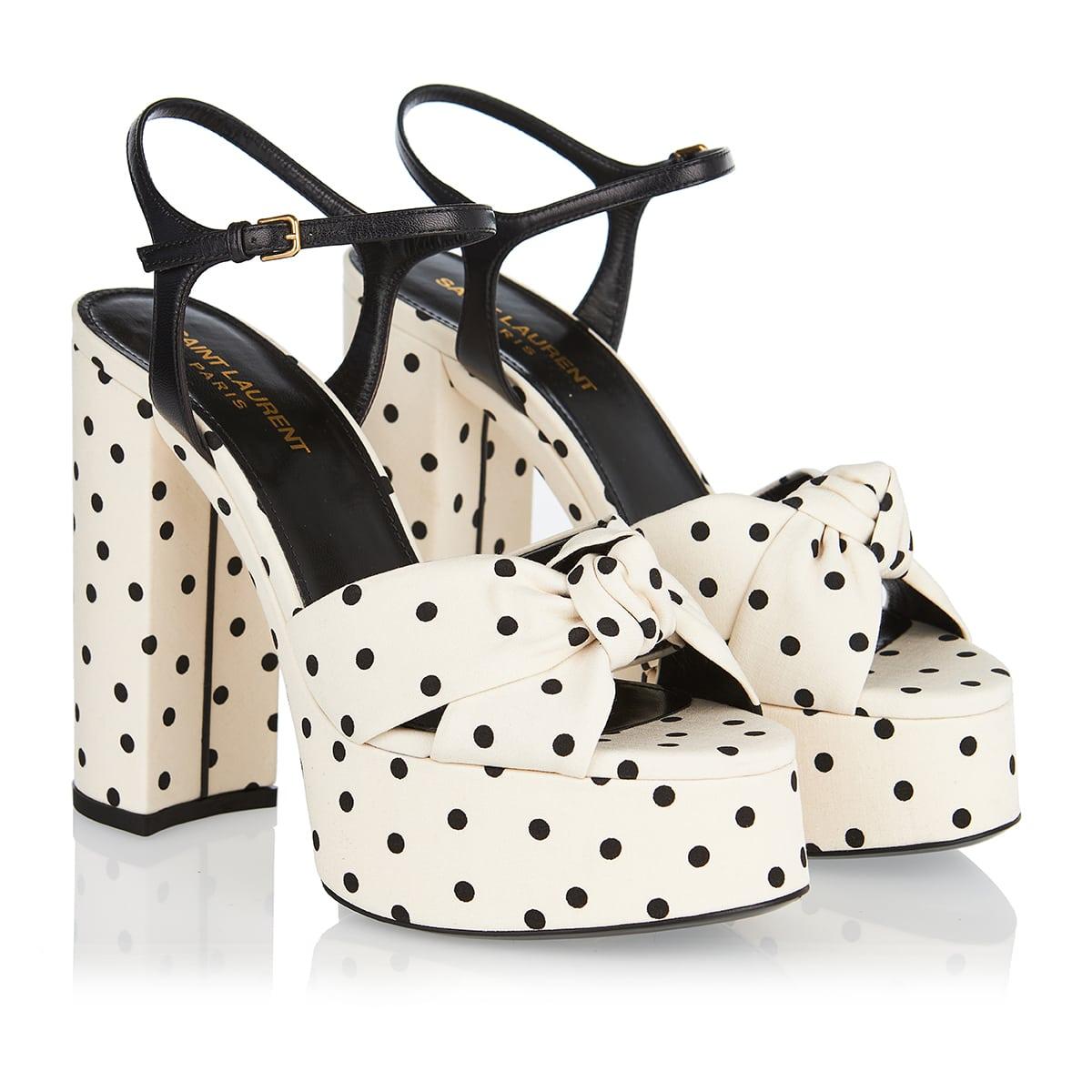 Bianca polka-dot platform sandals