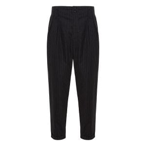 Pinstripe cropped tapered trousers