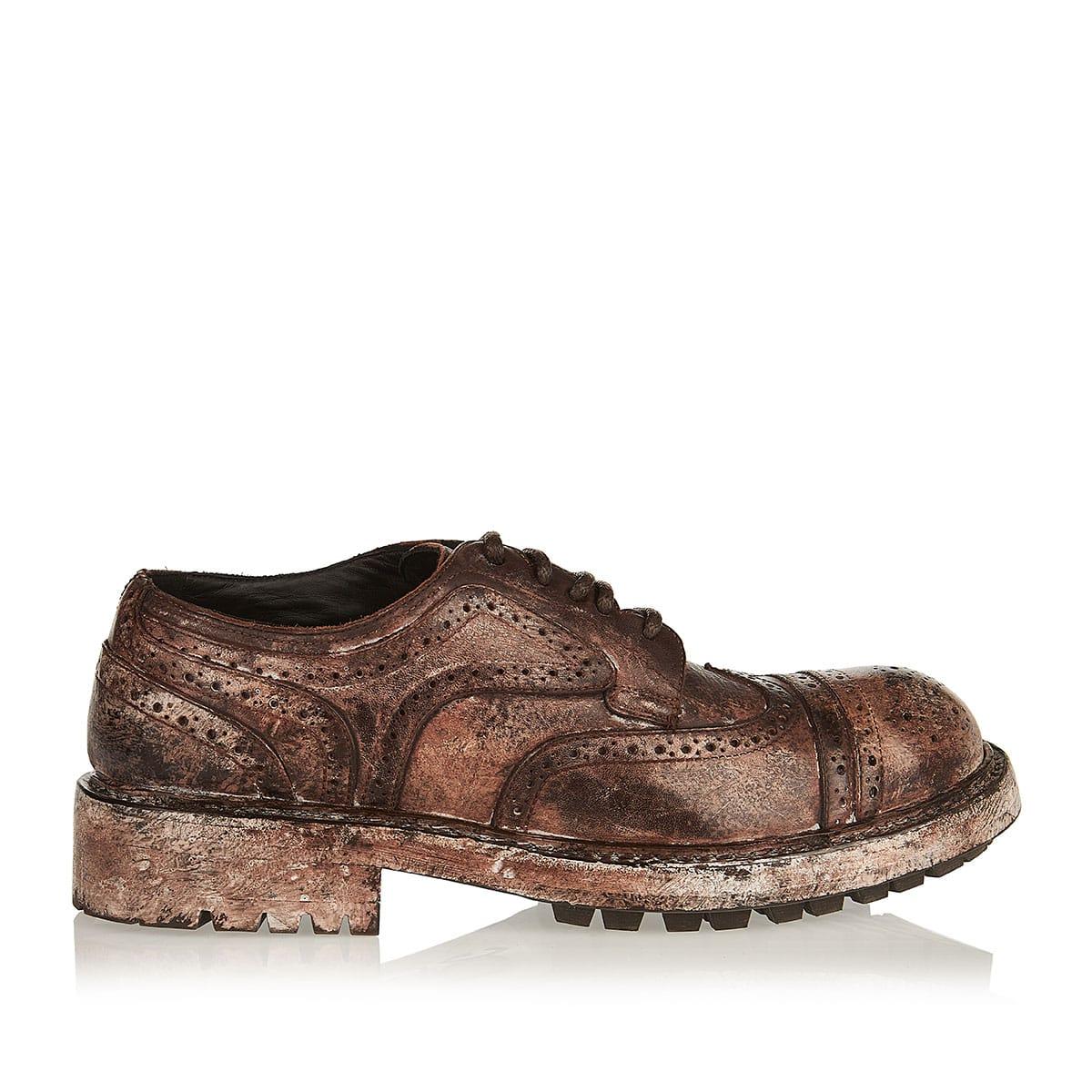 Bernini worn-effect derby shoes