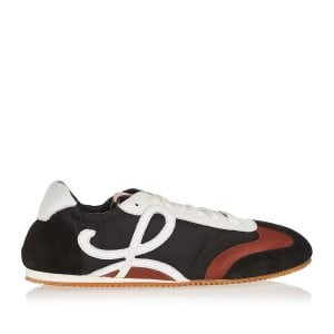 Ballet Runner nylon and leather sneakers
