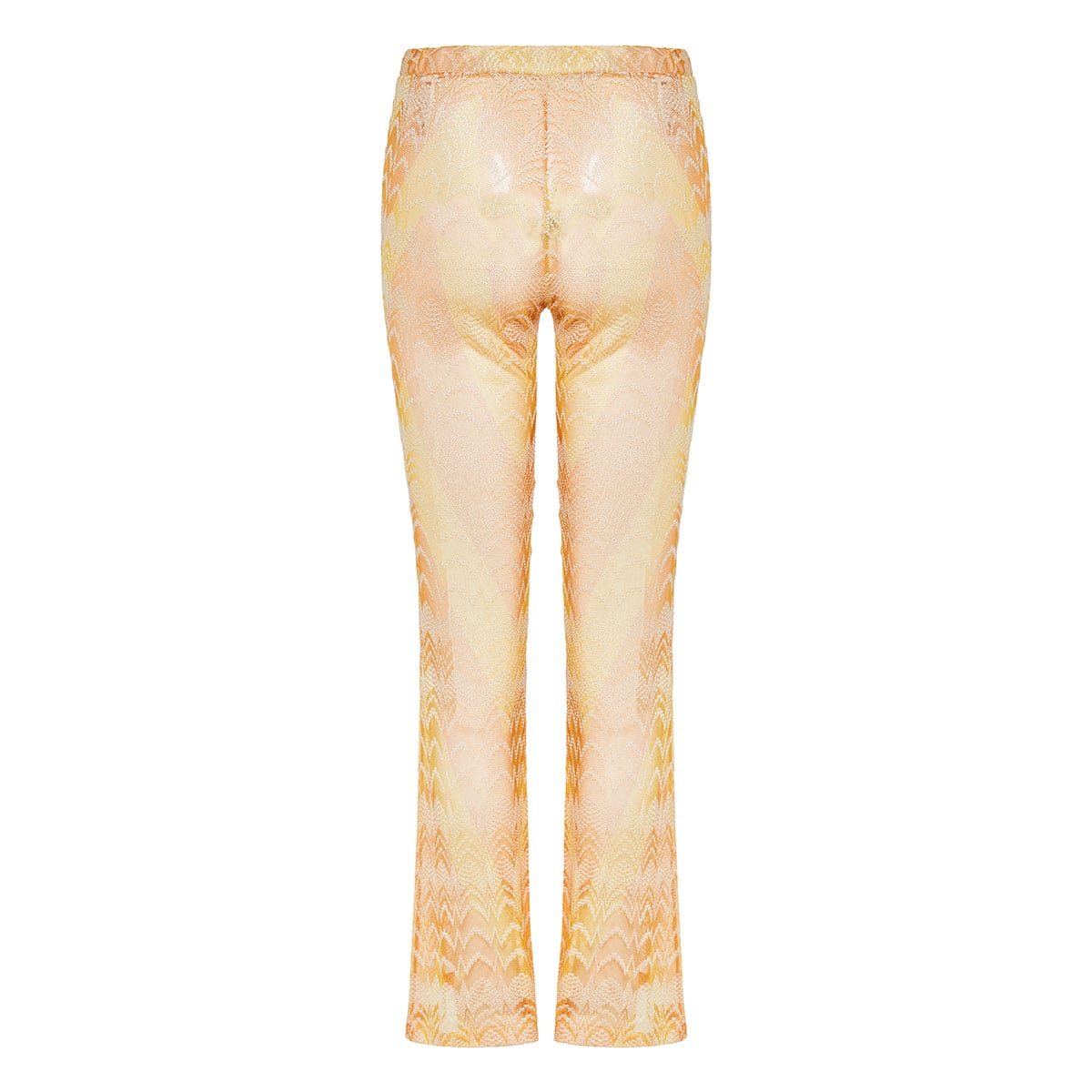 Jacquard-knit flared trousers