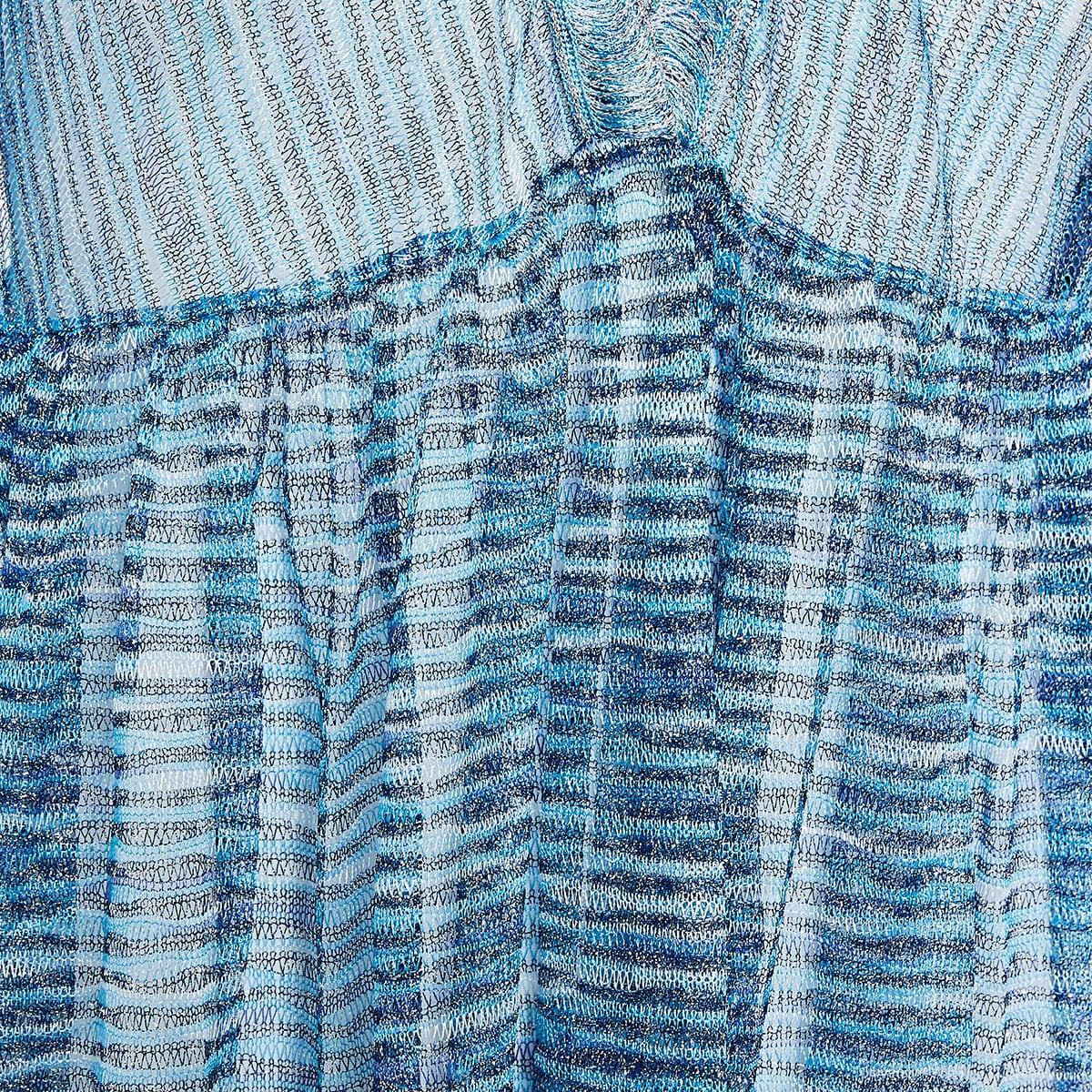 Striped knitted kaftan dress