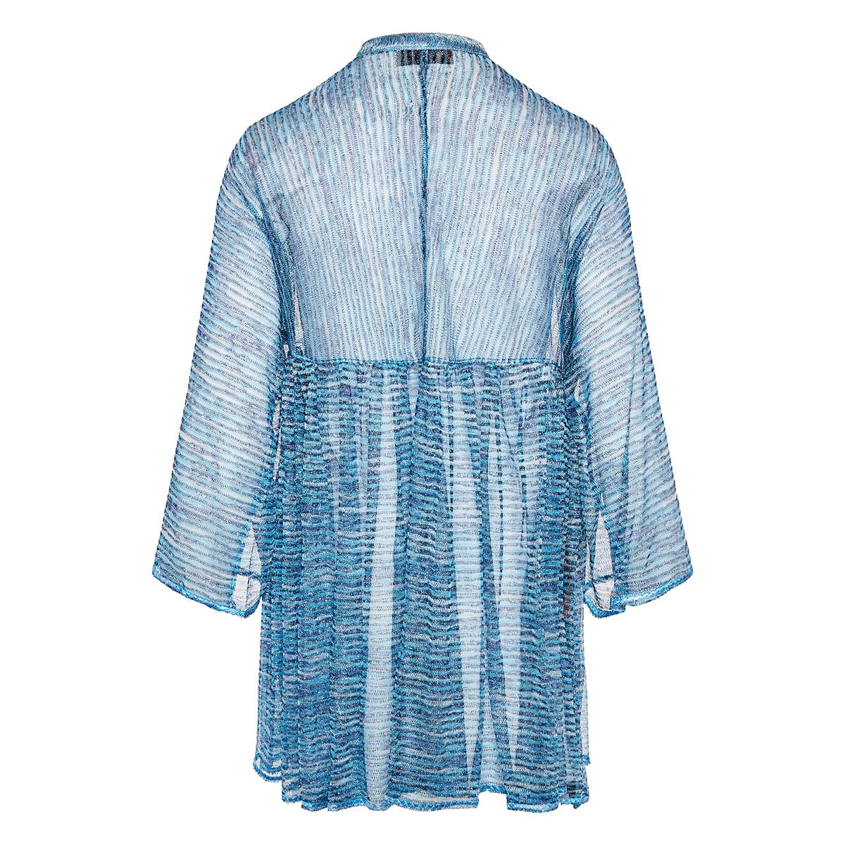 Striped knitted kaftan dress