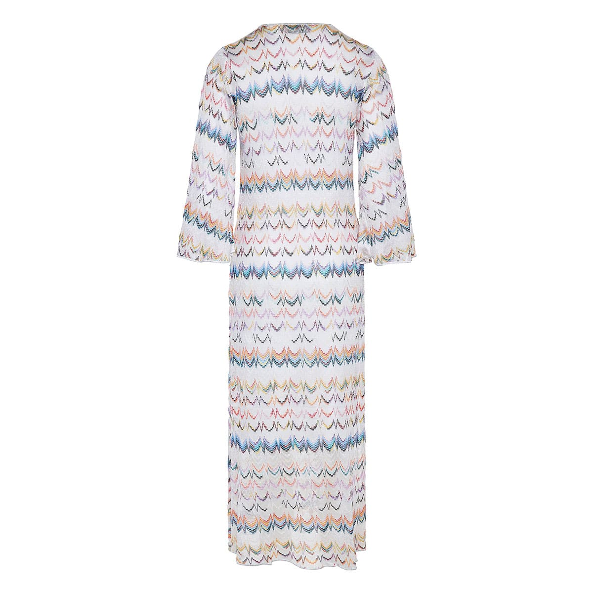 Patterned long knitted dress
