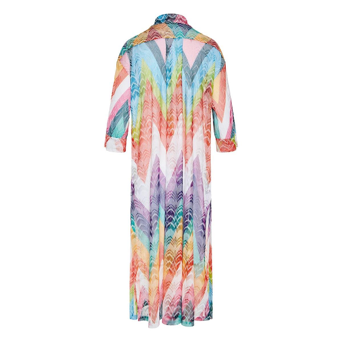 Chevron long knitted beach dress
