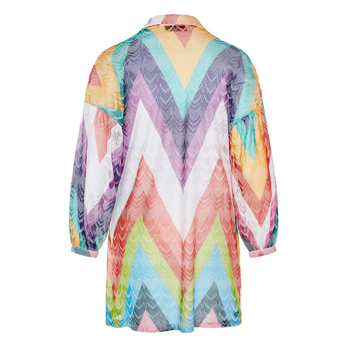 Chevron knitted beach dress