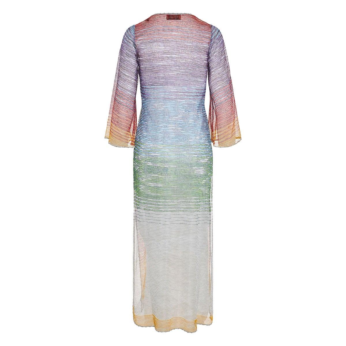 Striped long knitted beach dressStriped long knitted beach dress